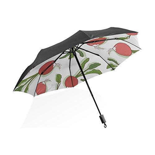 color recibido variados SANJO Paraguas plegable con asa de transporte y funda