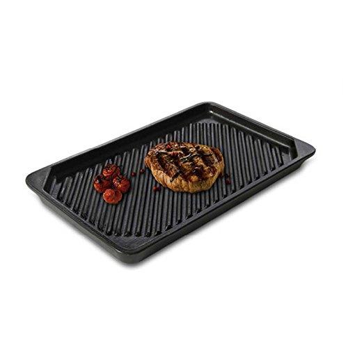 UR-TOPF® Keramik Grillschale Rechteckig Keramikplatte Grillen Grill Platte Basalt 2020.36.2