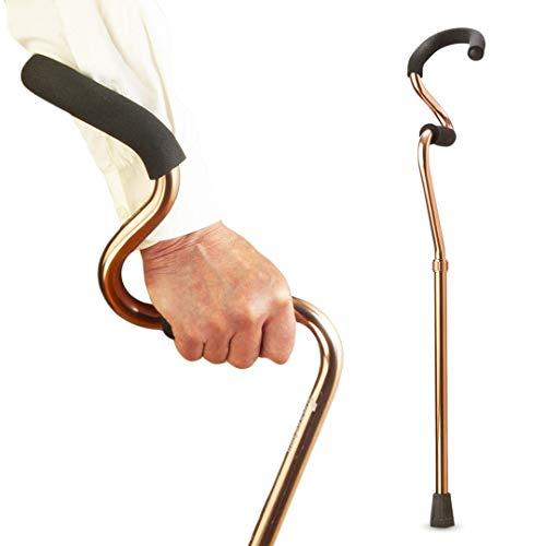 StrongArm Comfort Cane + Lightweight Adjustable Walking Cane + Stabilizes Wrist & Provides Extra Support & Stability + Ergonomic Hand & Forearm Grip + FSA/HSA Eligible (Bronze)