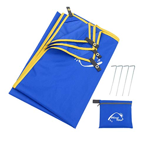 Sand Free Compact Waterproof Beach Blanket - Pocket Picnic Blanket Sand Proof For Outdoor Multiple Use | Best Mat For Travel & Festivals, Soft & Quick Drying With 4 Portable Tent Pegs ( Size : S )
