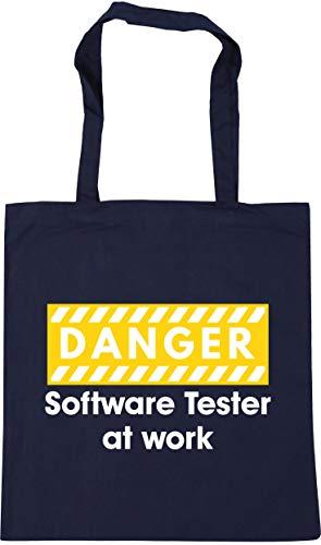 Hippowarehouse Danger Software Tester at work Tote Shopping Gym Beach Bag...