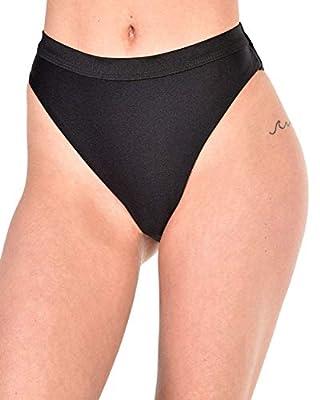 iHeartRaves Malibu BB High Cut Booty Shorts Bottoms (Black, 2X)