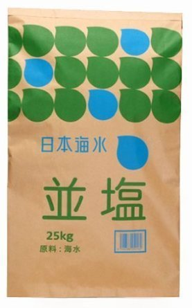 業務用 日本海水 並塩(讃岐) 25kg 4 袋