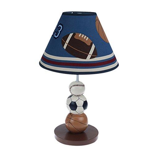 lampe de table Lampe de table de basket-ball chambre à coucher lampe de chevet enfants dessin animé créatif décoration chaleureuse et adorable A+