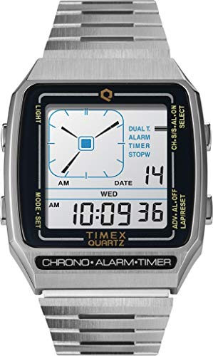 Timex 32.5 mm Q LCA Timex Reissue Digital LCA Stainless Steel Silver/Digital/Silver One Size