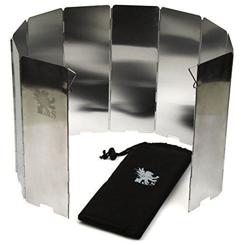 H&S 10 Plates Foldable Outdoor Camping Cooker Wind Screen Gas Stove Windshield