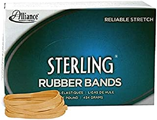 Alliance Rubber 24645 Sterling Rubber Bands Size #64, 1 lb Box Contains Approx. 425 Bands (3 1/2 x 1/4-Inches, Natural Crepe)