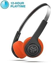 JLab Audio Rewind Wireless Retro Headphones | Bluetooth 4.2 | 12 Hours Playtime | Custom EQ3 Sound | Music Controls | Noise Isolation | with Microphone | Throwback 80s 90s Design | Black