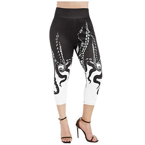 Inawayls Damen Sport Leggings Yoga Hose Laufhose Fitnesshose Jogginghose Gemustert S-2XL