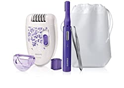 Philips 3-in-1 Set HP6543 / 00 - hair removal kit with epilator, precision trimmer and tweezers for a smooth skin - every day and at all times