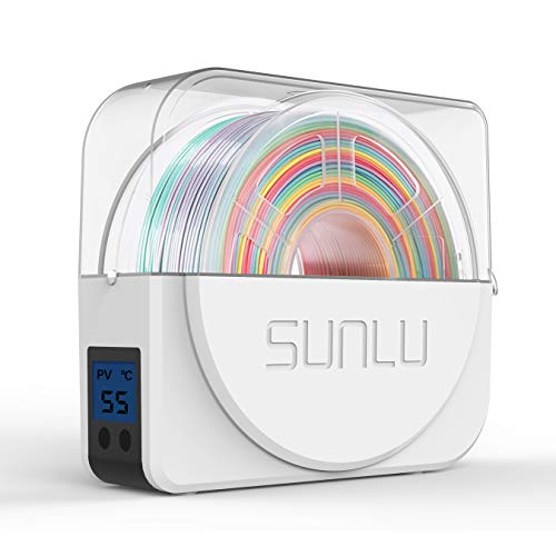 Dry Box for 3D Filament Storages, Dehydrator of Filament Dryer Box, SUNLU 3D Filament Enclosure Compatible with 1.75mm, 2.85mm, 3.00mm 3D Filament, Spool Holder
