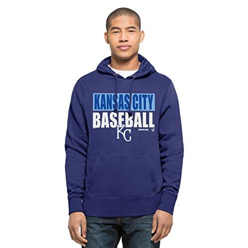 '47 MLB Headline Sudadera con Capucha para Hombre, MLB Mens Headline Pullover Hood, Azul Cobalto, Medium
