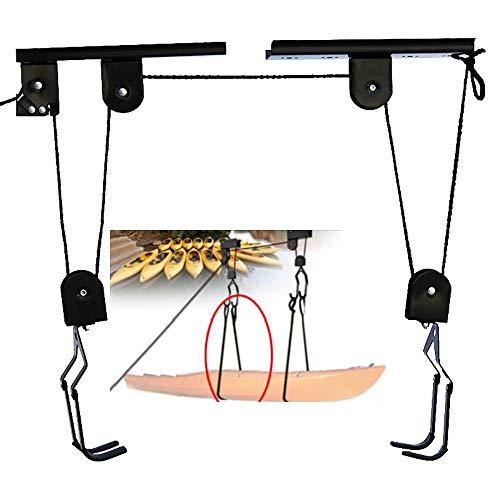 VGY Elevador de techo de bicicleta de 40 kg de carga con gancho Elevador de Bicicletas Bicicletas Almacenamiento Garaje Percha Montado Polea RackUniversal