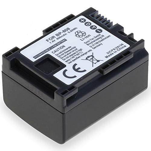 subtel® Qualitäts Akku kompatibel mit Canon FS100, FS200, Legria FS406, FS306, FS200, FS20, FS21, FS46, FS10, FS11, Vixia, XA10 (800mAh) BP-807,BP-808,BP-809,BP-819,BP-827 Ersatzakku Batterie
