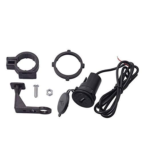 CVBN Cargador de teléfono móvil de Motocicleta 12V Impermeable Cargador USB único con Interruptor, Negro