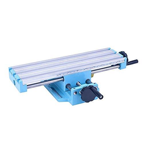 KKmoon Mini Frästisch Kreuztisch Workbench Mill Machine Fräsmaschine Vise Multifunktionale Assisted-Bench Bohrung Positionierung Querverstellung
