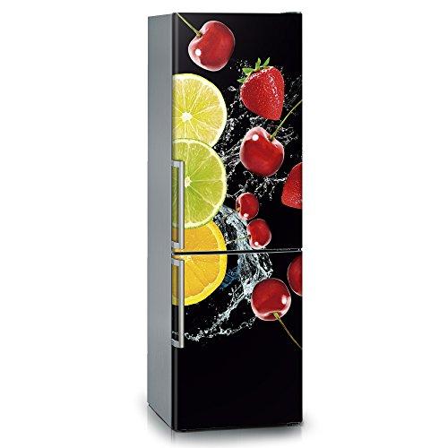 Vinilo para nevera | Stickers Fridge | Pegatina Frigo | Black Fruits (185x60)