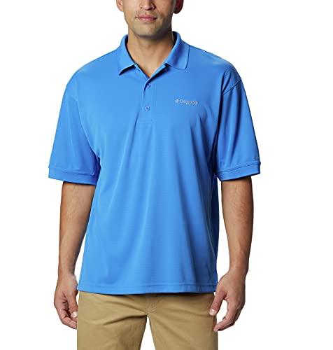Columbia Men's PFG Perfect Cast Polo Shirt, Breathable, UV Protection,Vivid Blue,Large