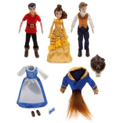 Beauty und das Biest Mini Puppe Set enthält poseable Figuren von Belle, Tier und Gaston zusammen mit alternativen Kostümen