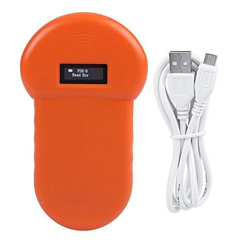 Bewinner Lettore di identificazione Animale, 134.2Khz con Display LCD, Conforme allo Standard ISO 11784/85, Lettore di schede di Memoria Esterna USB Buzzer con Lettore RFID Incorporato