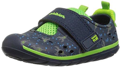 Stride Rite Baby-Boy's Made2Play Phibian Water Shoe, Blue, 3 Medium US Infant