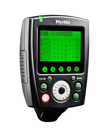 Phottix 89074-Blitzauslöser Fernbedienung, Sender für Canon, Schwarz