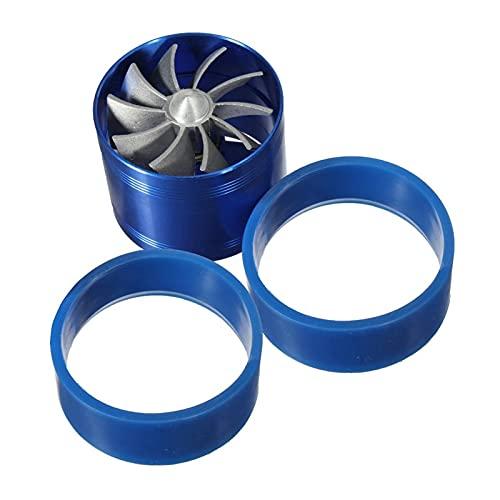 NONGFU Wangtao Store Universal Car Filter Filter Ingesta Fan Ventilador de Gas Saver Supercharger Ajuste para Turbina Turbo Cargador Turnocuario con 2 Caucho Antideslizante (Color : Blue)