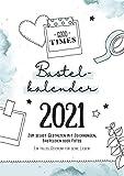 Bastelkalender Din A4 zum selbst gestalten 2021, Wandkalender zum Aufhängen, Jahreskalender mit...