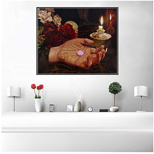 Halloween Thema Terror Palm Candy Lebensmittel Leinwand Ölgemälde drucken Poster Wand Home Art Decor 40x60 cm Kein Rahmen