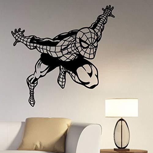 Tianpengyuanshuai Spider muursticker afneembare strip vinyl sticker kinderkamer muursticker decoratieve vinyl muurschildering