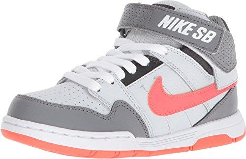 Nike Mogan Mid 2 Jr Chaussures de skateboard pour enfant, Blanc (Platine pur/corail/anthracite.), 29 EU