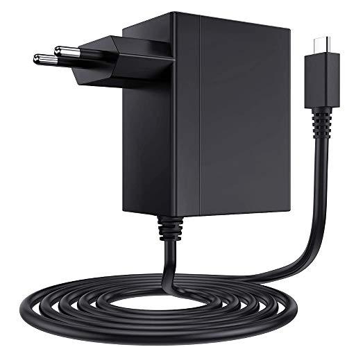 Cargador Tipo C Adaptador USB de Corriente 15V PD Cargador Rápido, Compatible con Nintendo Switch Lite