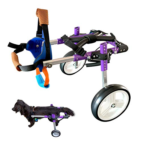 HiHydro Dog Wheelchair Lightweight Adjustable Pet Wheelchair with 2 Wheels for Back Legs...