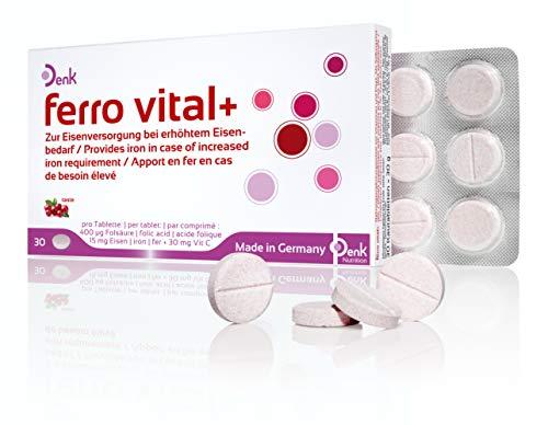 ferro vital+ Denk - Eisentabletten zur Nahrungsergänzung (30 Stück)