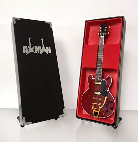 Jorma Kaukonen (Jefferson Airplane) – Epiphone Riviera Deluxe: réplica de guitarra en miniatura (vendedor del Reino Unido)