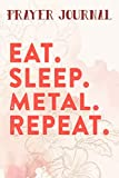 Prayer Journal Eat Sleep Detect Metal Detecting Detector Funny Gift Vintage Art: Prayer Calendar Journal, Motivational Planner 2021,For Women, Journal Religious, Hope Waits