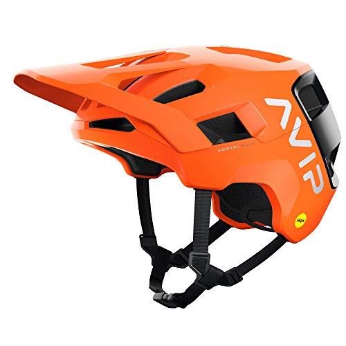 POC, Kortal Race MIPS MTB Bike Helmet for Trail and Enduro, Fluorescent Orange Avip/Uranium Black Matt, X-Small/Small