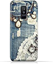 AMC Design Samsung Galaxy A6 Plus 2018 TPU Silicone Protective Case with Modern Jeans Pattern
