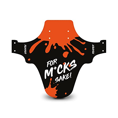 Reaper Accessories Easy-fit Front Mountain Bike Mud Guard Cycle Cycling Fender - Fits 24', 26' & 27.5' - For M*ck's Sake! Orange Enduro