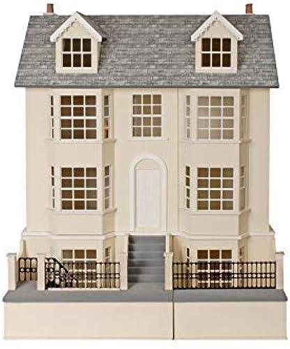 Melody Jane 1 12 Puppenhaus Regency Town House & Keller Unlackiert MDF Holz Set