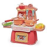 Tosbess Cocina Infantil y Comida de Juguete con Efecto Sonidos Luminoso - Divertido Set de cocinitas de Juguetes Completo - Ideal Juguetes niños 3 años y más(26 Piezas)