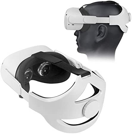 HIJIAO New Adjustable Headband Compatible for Oculus Quest 2 with Head Cushion Replace Elite product image