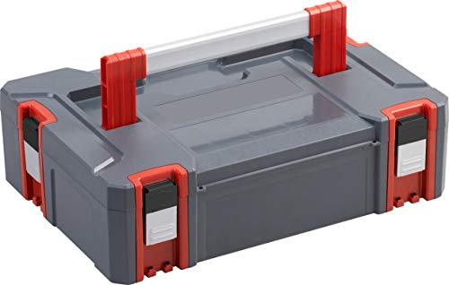 Connex COX566200 - Caja de almacenaje (17,5 L, capacidad de carga de 80 kg, sistema ampliable individualmente, apilable, de plástico resistente, caja de herramientas)