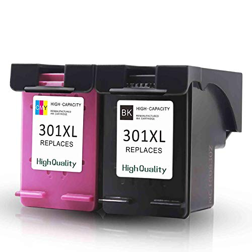 Kit de 2 cartuchos compatibles para HP 301 XL negro + color impresora Deskjet 1050 2050