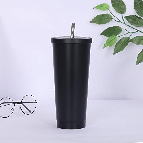 Chanety,taza de agua aislada,taza de agua Moda Nueva taza de café 304s sin recta ecadeo de acero al vacío taza de paja portátil de café taza de café gran capacidad de vacío matraz taza taza taza de ag