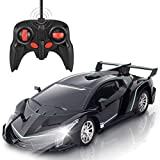 SRVOOZ Remote Control Car, Rc Car 1:16 Scale 8-10 MPH High Speed Super Vehicle, Electric Sport Racing Hobby Toy Car with Cool Lights, Shock Absorber and Crashworthy, Xmas Birthday Toy Gifts for Kids