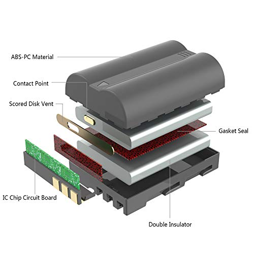 EN-EL3e Battery, LP Battery, Replacement for Nikon EN EL3e, EL3, EL3a, Compatible with Nikon D700, D300s, D300, D200, D100, D90, D80, D70s, D70, D50, MH-18, MH-18a, MH-19, MB-D200, MB-D10 & More