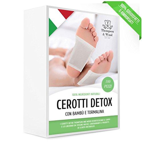 CEROTTI DETOX | 100 PEZZI | CEROTTI TOSSINE | Cerotti detox piedi | Elimina tossine - Metalli pesanti | con Bambu eTormalina nera | Disintossicante Purificante | con Ingredienti Naturali