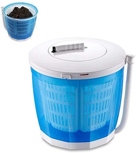 WLL-DP Mini Lavatrice Manuale Manuale a manovella Mini rondella con Scarico Compatto Design Compatto per Campeggio, Viaggio, Camper, dormitorio
