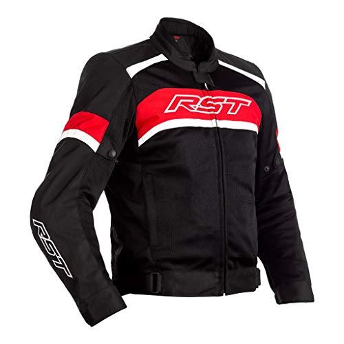 RST Pilot CE Herren Schwarz Rot Weis Textil Motorradjacke EU54